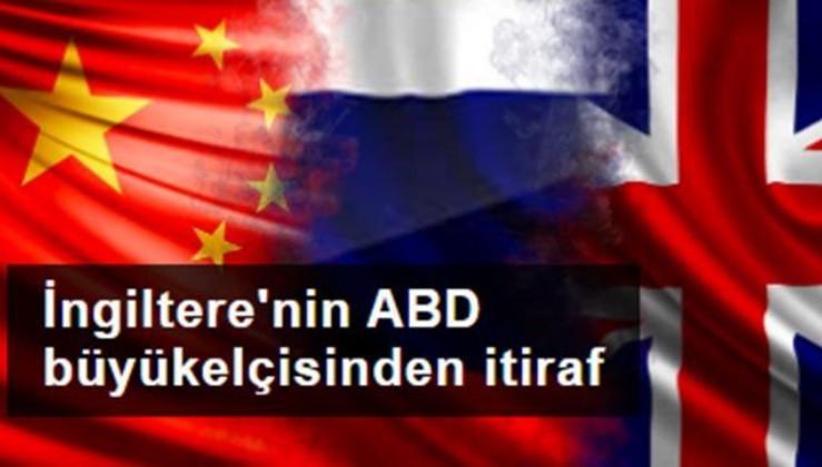 İngiltere'nin ABD büyükelçisinden itiraf: Çin ve Rusya'nın pandemi sürecinin kazanan tarafı olmasını istemiyoruz