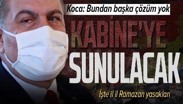 Sağlık Bakanı Fahrettin Koca 'Başka çözüm yok' diyerek uyardı! Kabine Toplantısı'na o öneriyi sunacak! İşte il il Ramazan yasakları