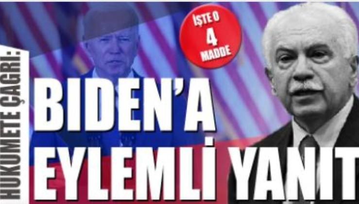 Biden'ın Hücum Borusuna karşı Vatan Partisi'nden hükümete çağrı!