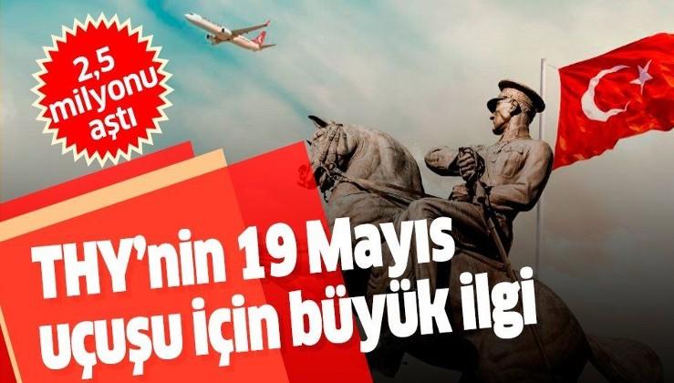 Türk Hava Yolları'nın 19 Mayıs özel uçuşu için 2,5 milyonu aşkın kişi hatıra bileti oluşturdu