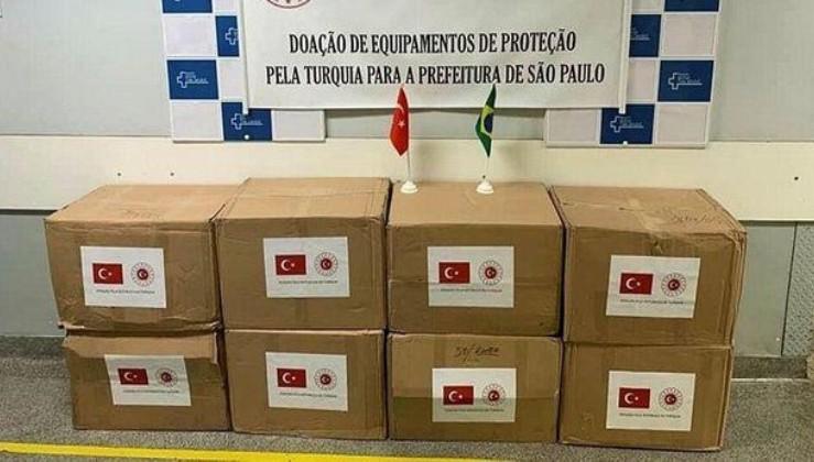 Son dakika: Türkiye'den Brezilya'nın Kovid-19 salgınıyla mücadelesine maske desteği