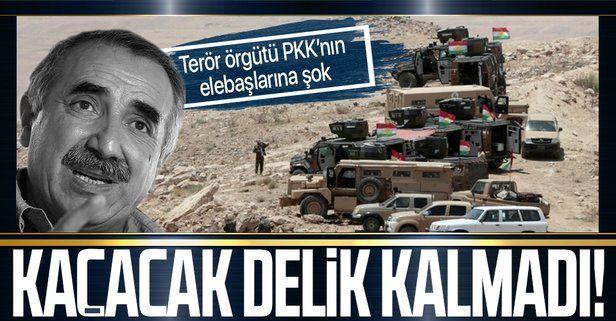 Terör örgütü PKK Kandil Berdenazi kampında köşeye sıkıştı!