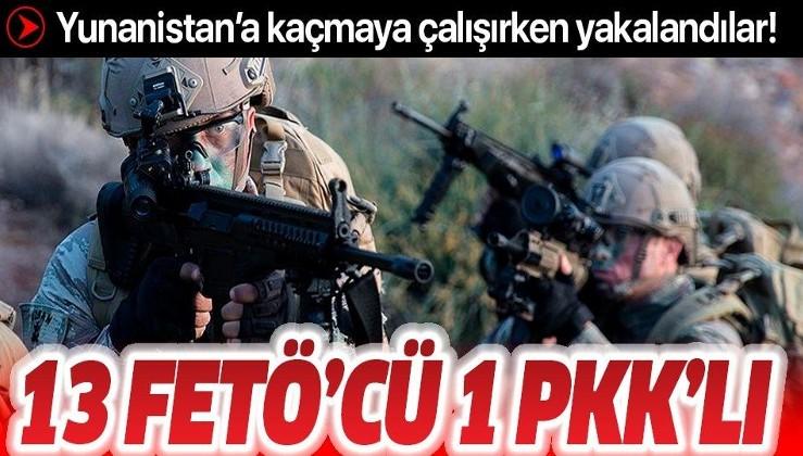 SON DAKİKA: Yurt dışına kaçmaya çalışan FETÖ üyesi 13 kişi ile PKK üyesi bir kişi yakalandı!