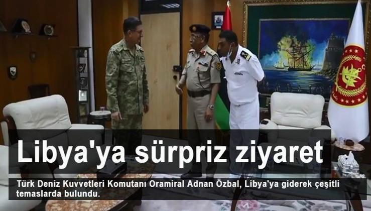 Türk Deniz Kuvvetleri Komutanı Oramiral Adnan Özbal Libya'da