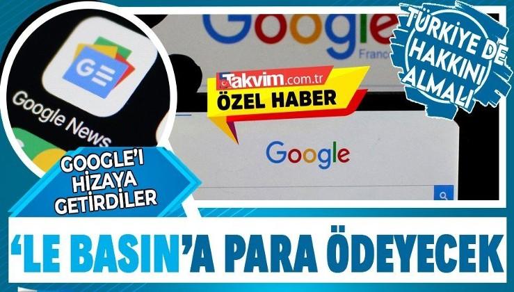 ABD'li Google, artık Avrupa basınına telif ödeyecek! Türkiye de harekete geçmeli