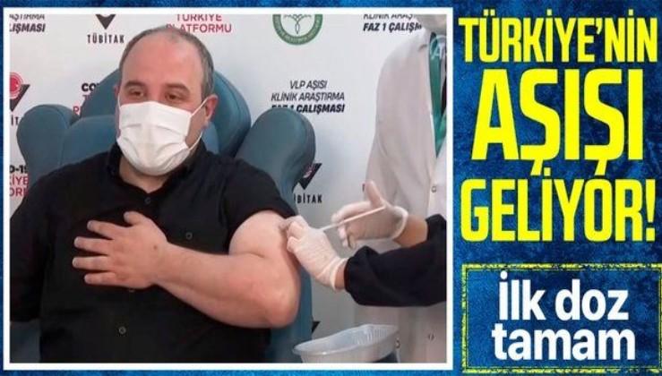 Son dakika: Sanayi ve Teknoloji Bakanı Mustafa Varank, VLP temelli yerli koronavirüs aşısının ilk dozunu yaptırdı!