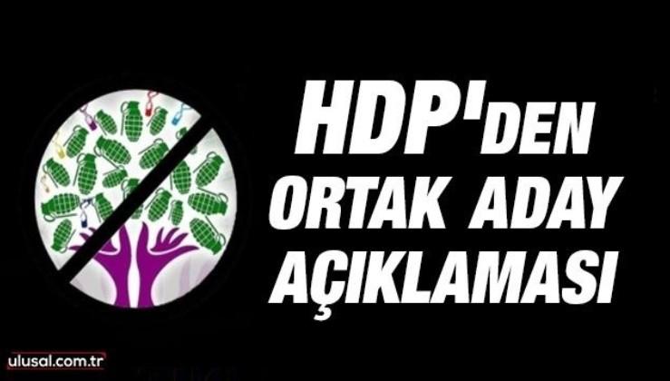 HDP'den ortak aday açıklaması