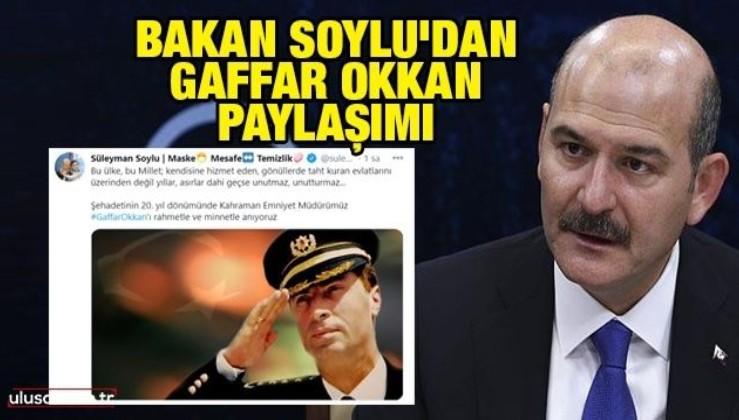 İçişleri Bakanı Soylu şehit emniyet müdürü Gaffar Okkan'ı andı
