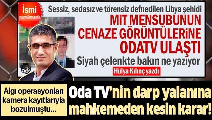 Oda TV'nin darp yalanına mahkemeden kesin karar!
