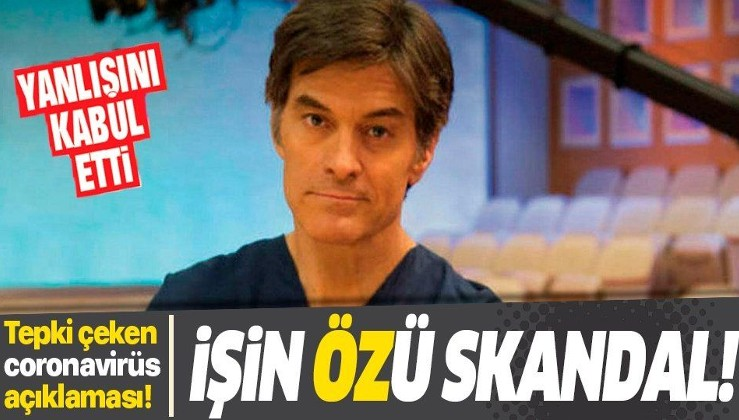İşin 'Öz'ü skandal! Dr. Mehmet Öz'den tepki çeken 'koronavirüs' açıklaması...