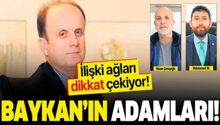 TFF İcra Kurulu Üyesi Mehmet Baykan'ın ilişki ağı dikkat çekiyor