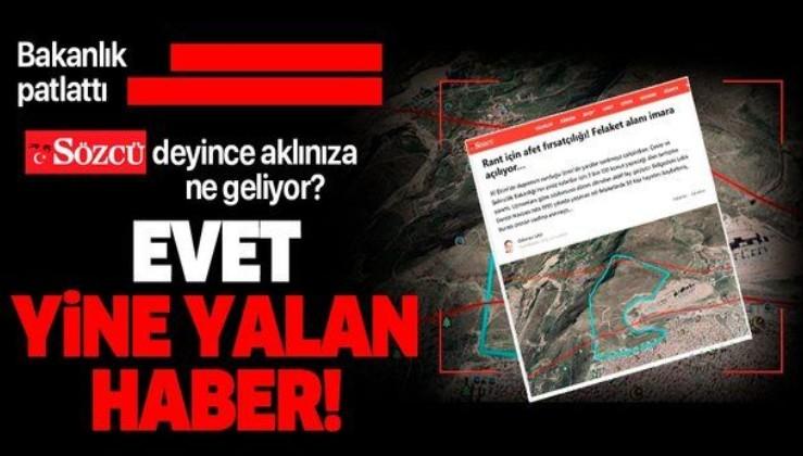 Sözcü Gazetesi'nin 'İzmir'de aktif fay hattı üzerine konut yapılacak' iddiası
