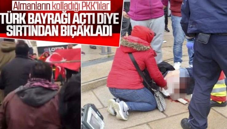 Almanya'da PKK'lılar, Türk bayrağı açanlara saldırdı