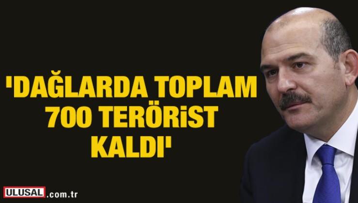 Süleyman Soylu'dan flaş açıklama: Dağlarda toplam 700 terörist kaldı