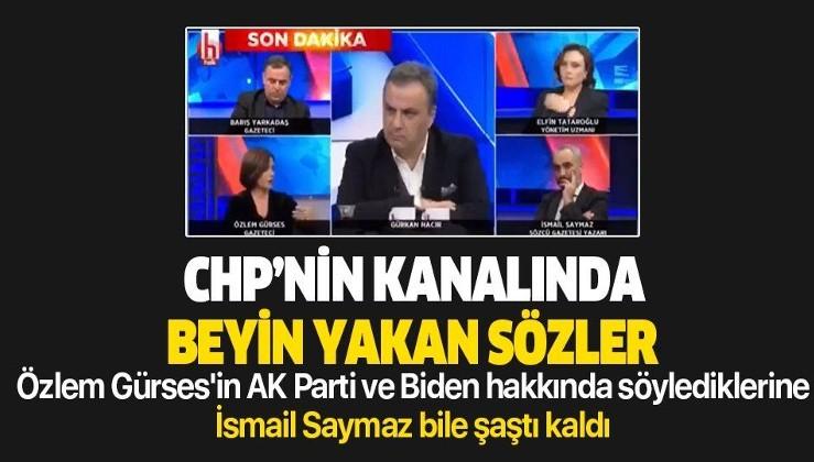 Halk TV'de Özlem Gürses'in AK Parti ve Joe Biden'la ilgili sözlerine İsmail Saymaz bile inanmadı
