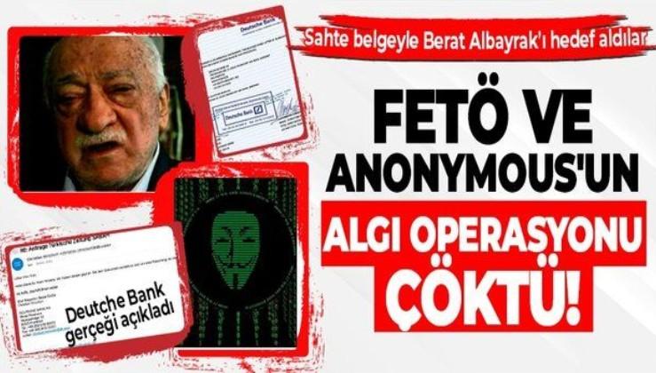 FETÖ ve hacker grubu Anonymous'tan sahte belgeyle algı operasyonu! Deutche Bank sözcüsü gerçeği açıkladı