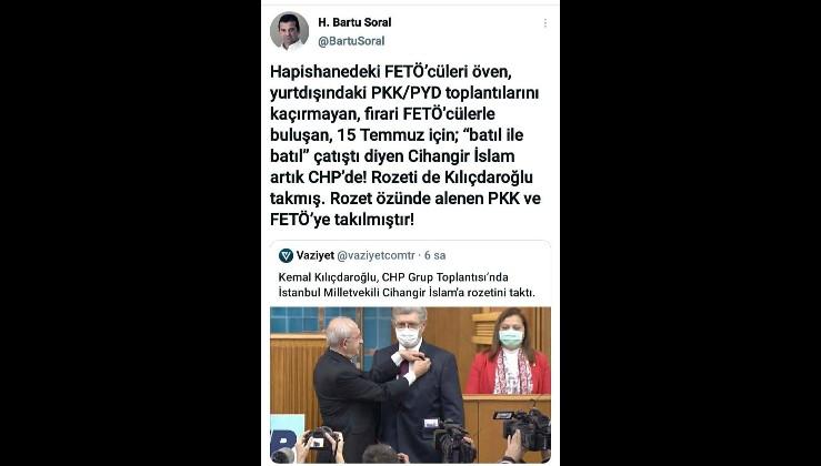 Nedim Şener: Cihangir İslam CHP'ye katılmadı, CHP Cihangir İslam'a katıldı!!! Çünkü değişen Cihangir İslam değil, CHP....