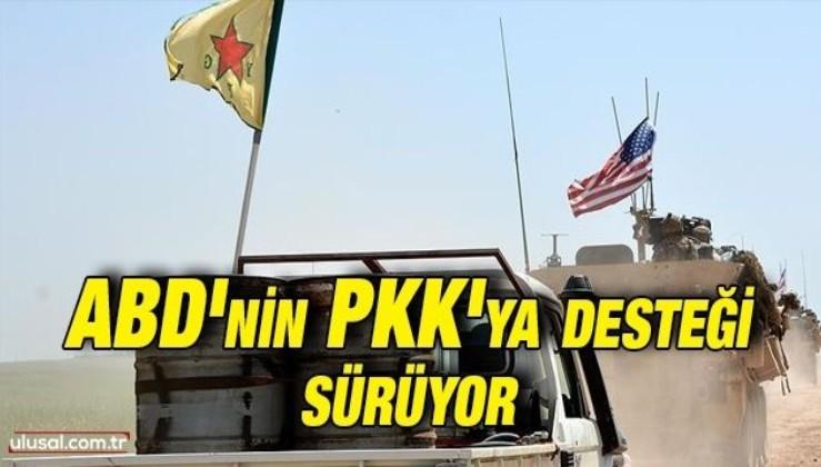 ABD'nin PKK'ya desteği sürüyor