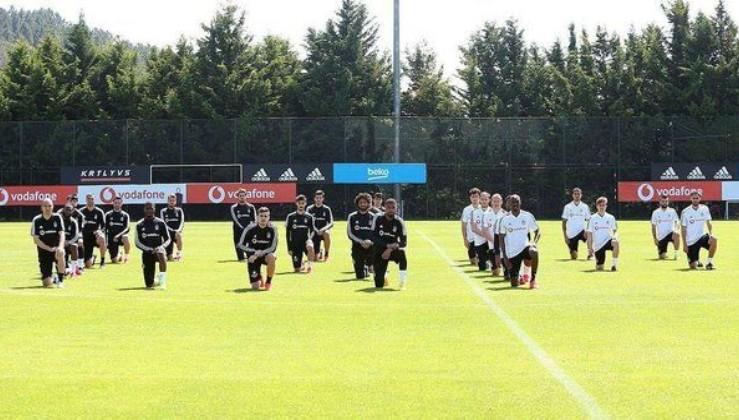 Beşiktaşlı futbolcular idman öncesi George Floyd'u andı