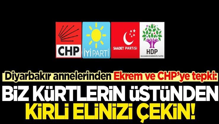 Diyarbakır annelerinden Ayşegül Biçer'den İmamoğlu ve CHP'ye çağrı: Kürt halkının üstünden kirli ellerinizi çekin