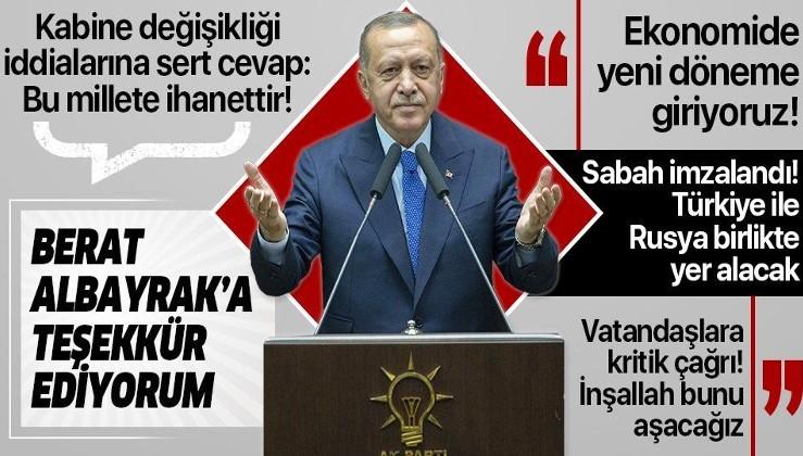 Erdoğan'dan AK Parti Grup Toplantısı'nda önemli açıklamalar