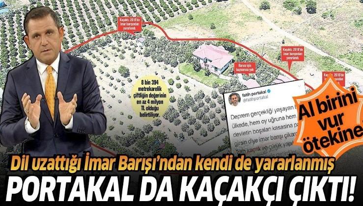Fatih Portakal'ın da kaçak yapıları ortaya çıktı