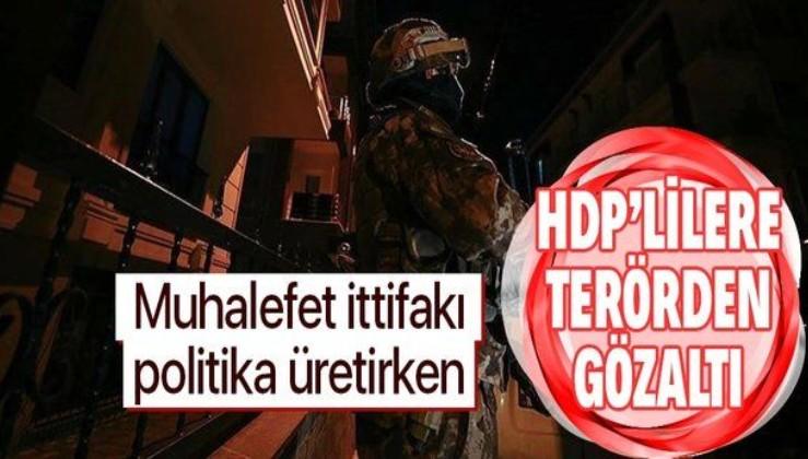 HDP'nin eski yöneticilerinin de olduğu 8 kişiye PKK/KCK'dan gözaltına alındı