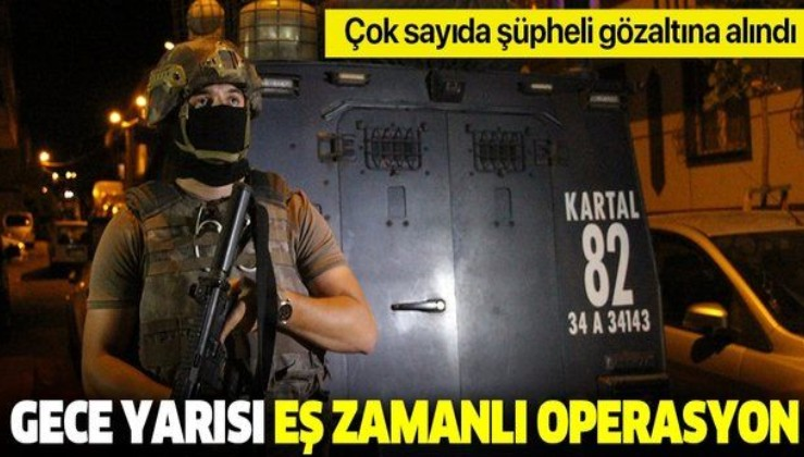 Son dakika: İstanbul'da terör operasyonu: Çok sayıda şüpheli gözaltına alındı