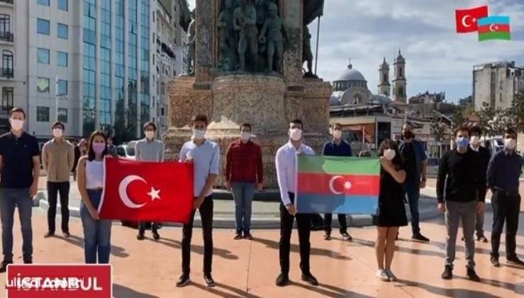 Türkiye'nin dört bir yanından gençler Azerbaycan'a selam gönderdi