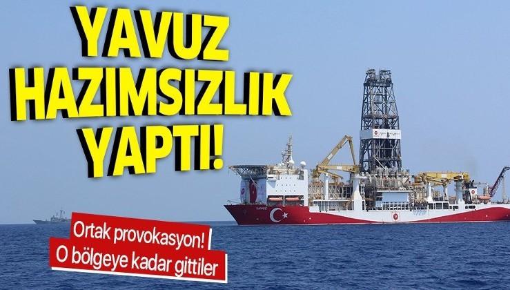 Yavuz gemisine Rum ve AB'den ortak provokasyon!