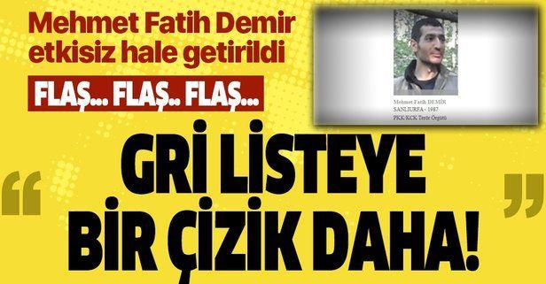 Bakanlık açıkladı: Gri kategoride aranan Mahsum kod adlı terörist Mehmet Fatih Demir etkisiz hale getirildi