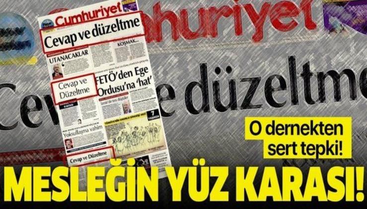 """Medya Derneği'nden asılsız haberlerin adresi Cumhuriyet gazetesine sert tepki: """"Mesleğin yüz karası"""""""