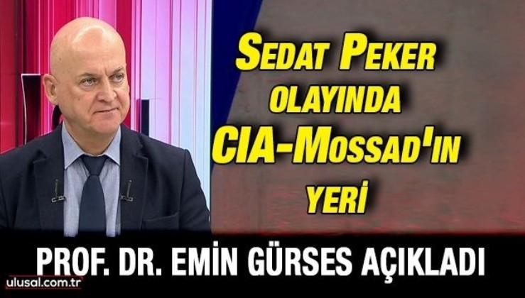 Prof. Dr. Emin Gürses açıkladı: ''Sedat Peker kaldığı otel Mossad ile bağlantılı birinin oteli''