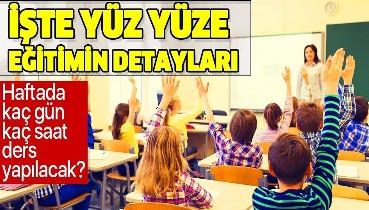 Son dakika: Hangi sınıf kaç gün kaç saat ders yapacak? MEB'den yüz yüze eğitim açıklaması
