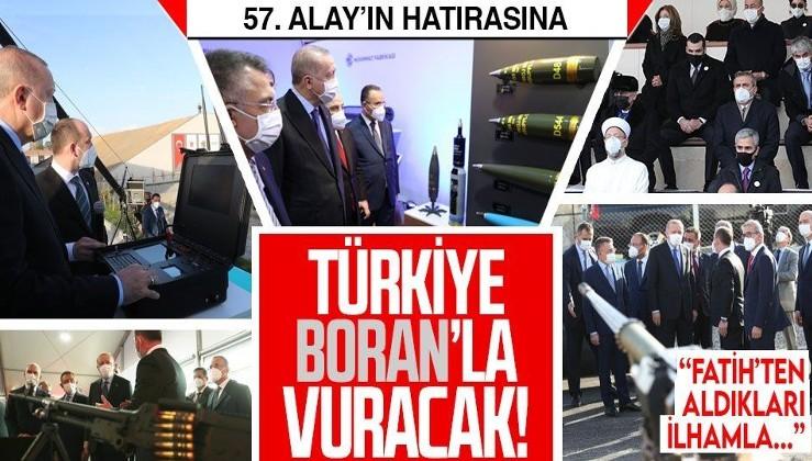 Erdoğan, Barutsan Roket ve Patlayıcı Fabrikası'nda yerli ve milli silah ve mühimmatları inceledi!