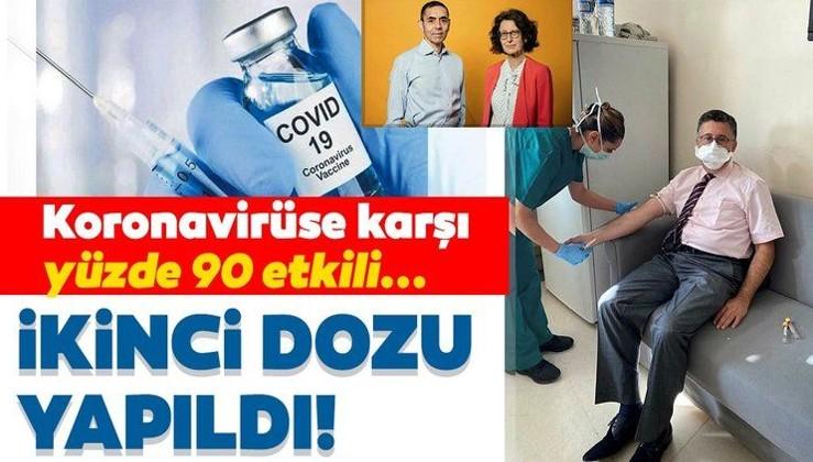 Son dakika haberi: Yüzde 90 etkili corona aşısının ikinci dozu yapıldı! Türk profesör Uğur Şahin ve eşinin bulduğu aşı...