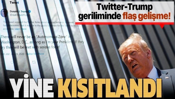 Trump-Twitter geriliminde flaş gelişme: Bir paylaşımın daha erişimi kısıtlandı