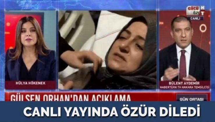 Bülent Aydemir canlı yayında özür diledi