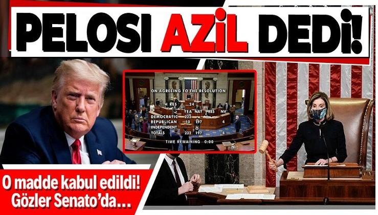 Son dakika: ABD Başkanı Donald Trump için azil kararı! Gözler Senatonun vereceği kararda...