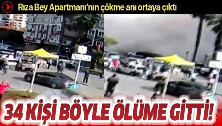 Son dakika: İzmir depreminden yeni görüntü! Rıza Bey Apartmanının çökme anı ortaya çıktı