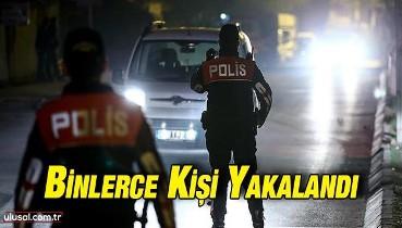 Türkiye'de aranan 1964 kişi yakalandı