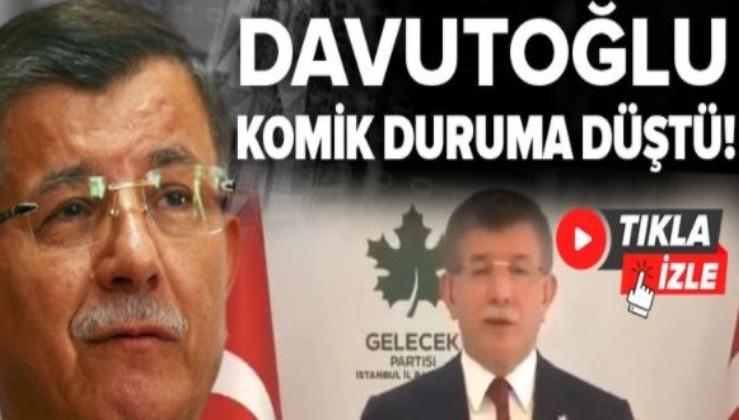 TUTMAYIN! Ahmet Davutoğlu komik duruma düştü!