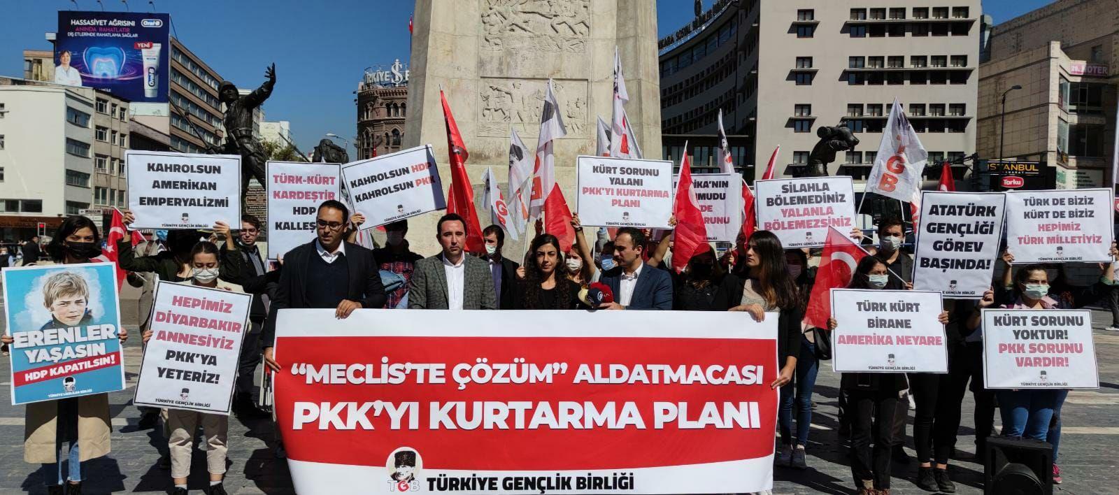"""""""Kürt Sorununa TBMM'de Çözüm"""" Aldatmacası  PKK'yı Kurtarma Planıdır!"""