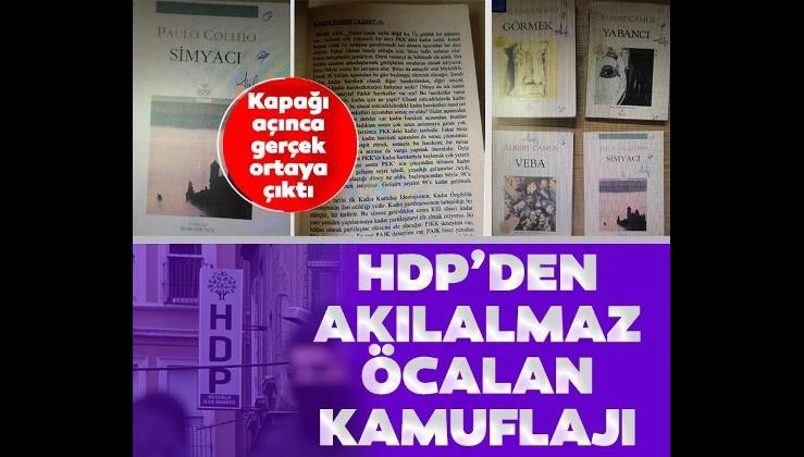 HDP İl İstanbul İl Başkanlığı'nda yeni rezalet! Akılalmaz Öcalan kamuflajı...