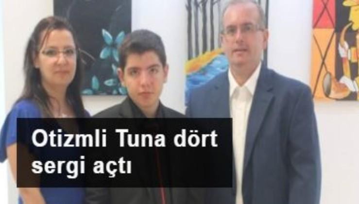 Otizmli Tuna dört sergi açtı