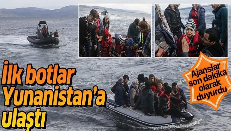 Ajanslar son dakika olarak duyurdu: İşte Yunanistan'a ulaşan göçmen botları