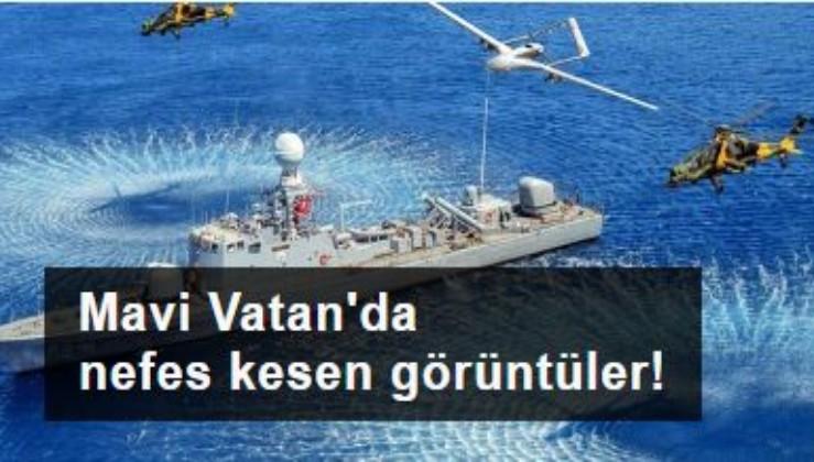 Mavi Vatan'dan 'Çelikten kaledir donanmamız' mesajı