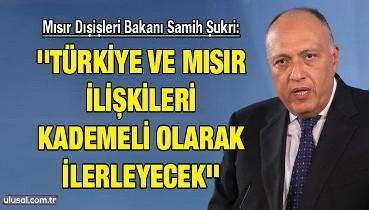 Mısır Dışişleri Bakanı Samih Şukri: ''Türkiye ve Mısır ilişkileri kademeli olarak ilerleyecek''