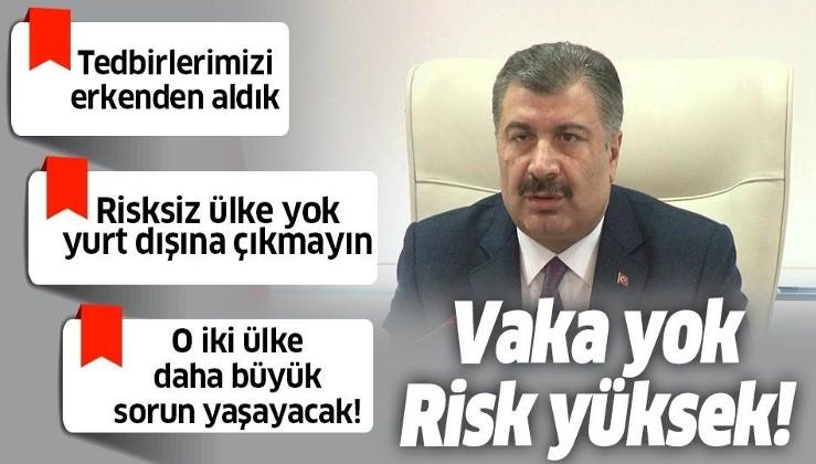 Son dakika: Sağlık Bakanı Fahrettin Koca'dan Koronavirüs açıklaması: Türkiye'den olma ihtimali çok yüksek.