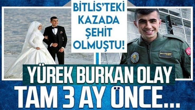 Bitlis'teki helikopter kazasında şehit olan Şükrü Karadirek hakkında yürek burkan detay! 3 ay önce...